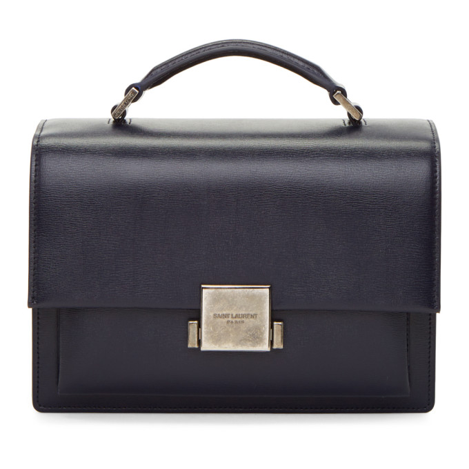 Medium Bellechasse Leather Shoulder Bag in Eew Graphite