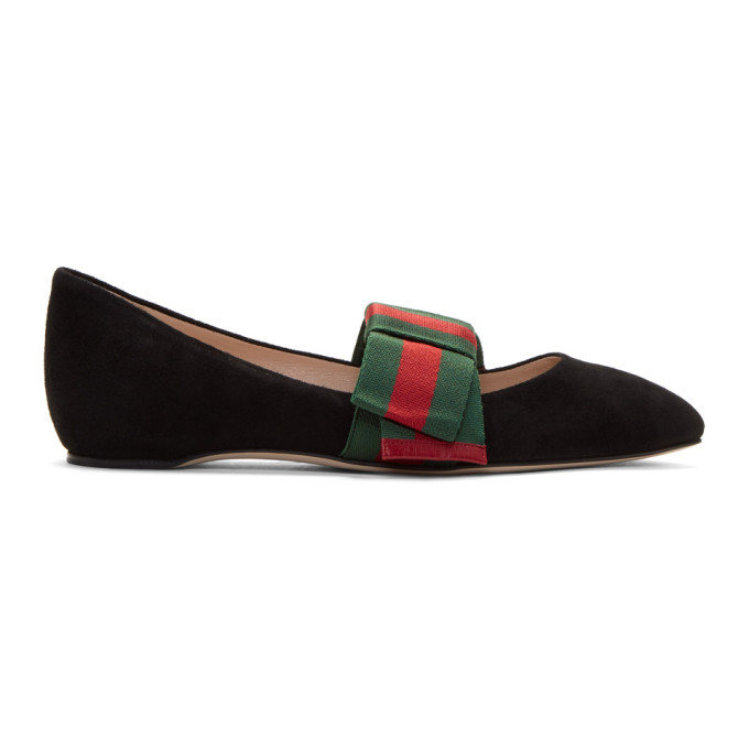 GUCCI BOW-EMBELLISHED SUEDE POINT-TOE FLATS bbe22d0f30