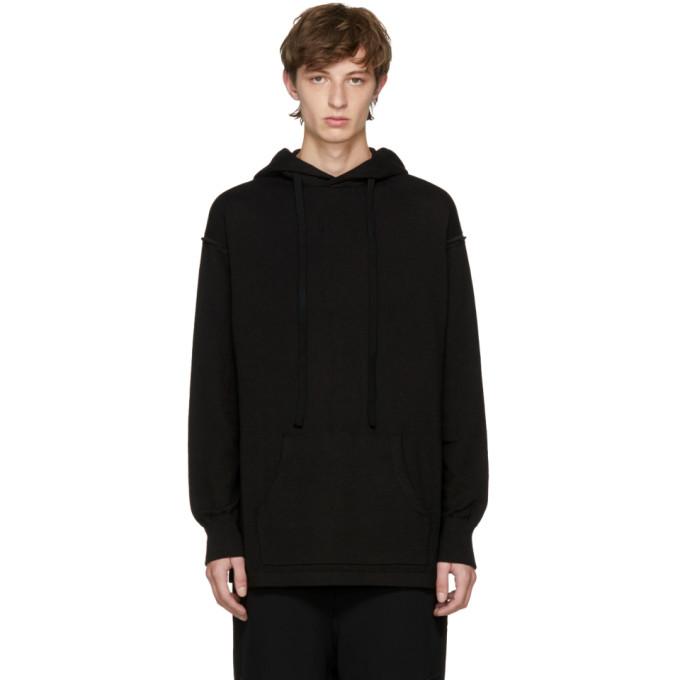 THE VIRIDI-ANNE Drawstring Hoodie  in Black