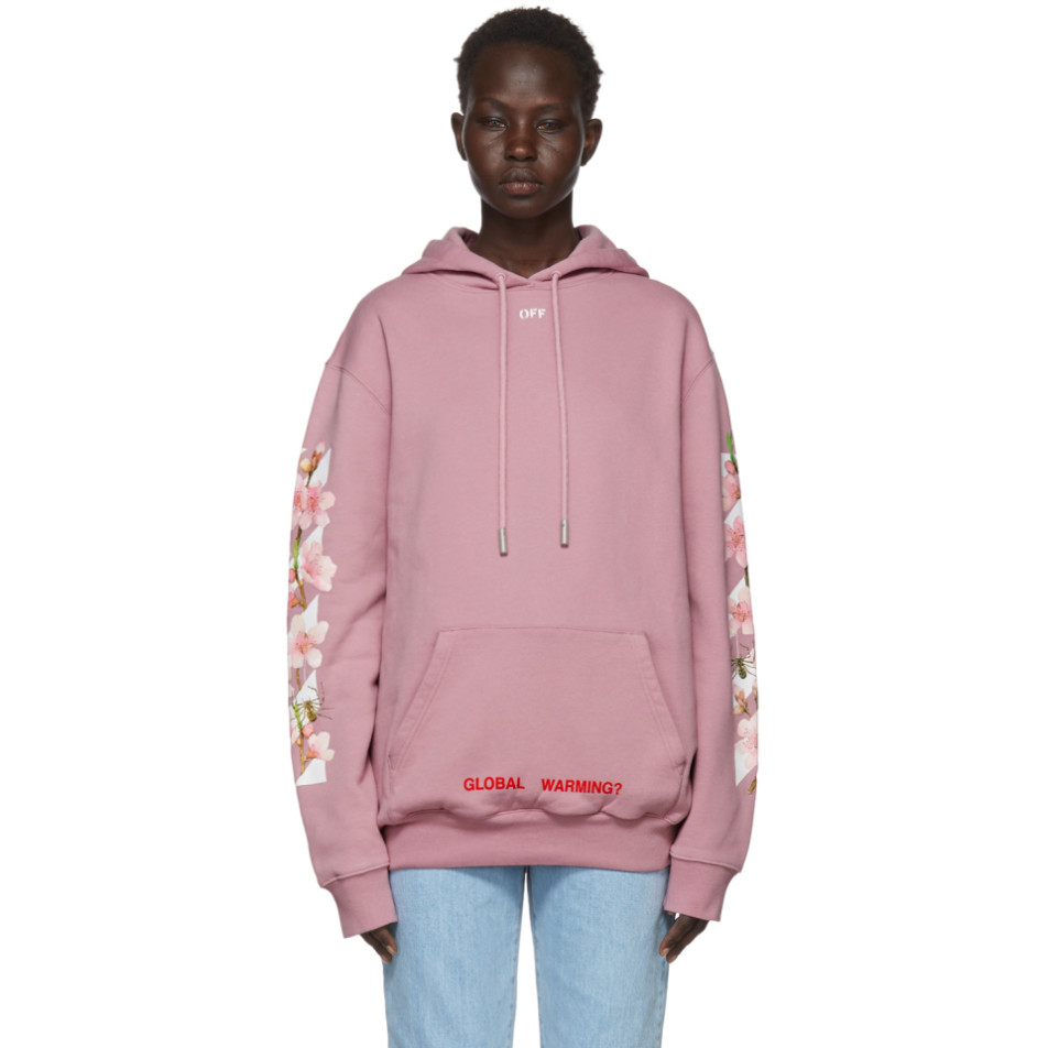 Ssense Exclusive Pink Diagonal Cherry Hoodie by Off White