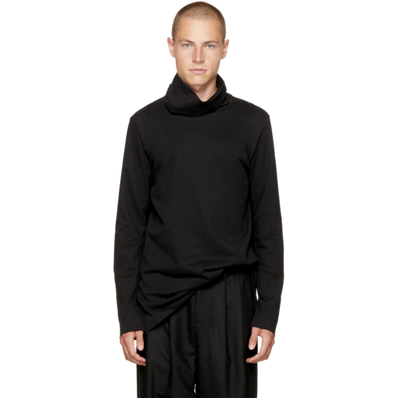 Black Wide Collar Turtleneck by Attachment