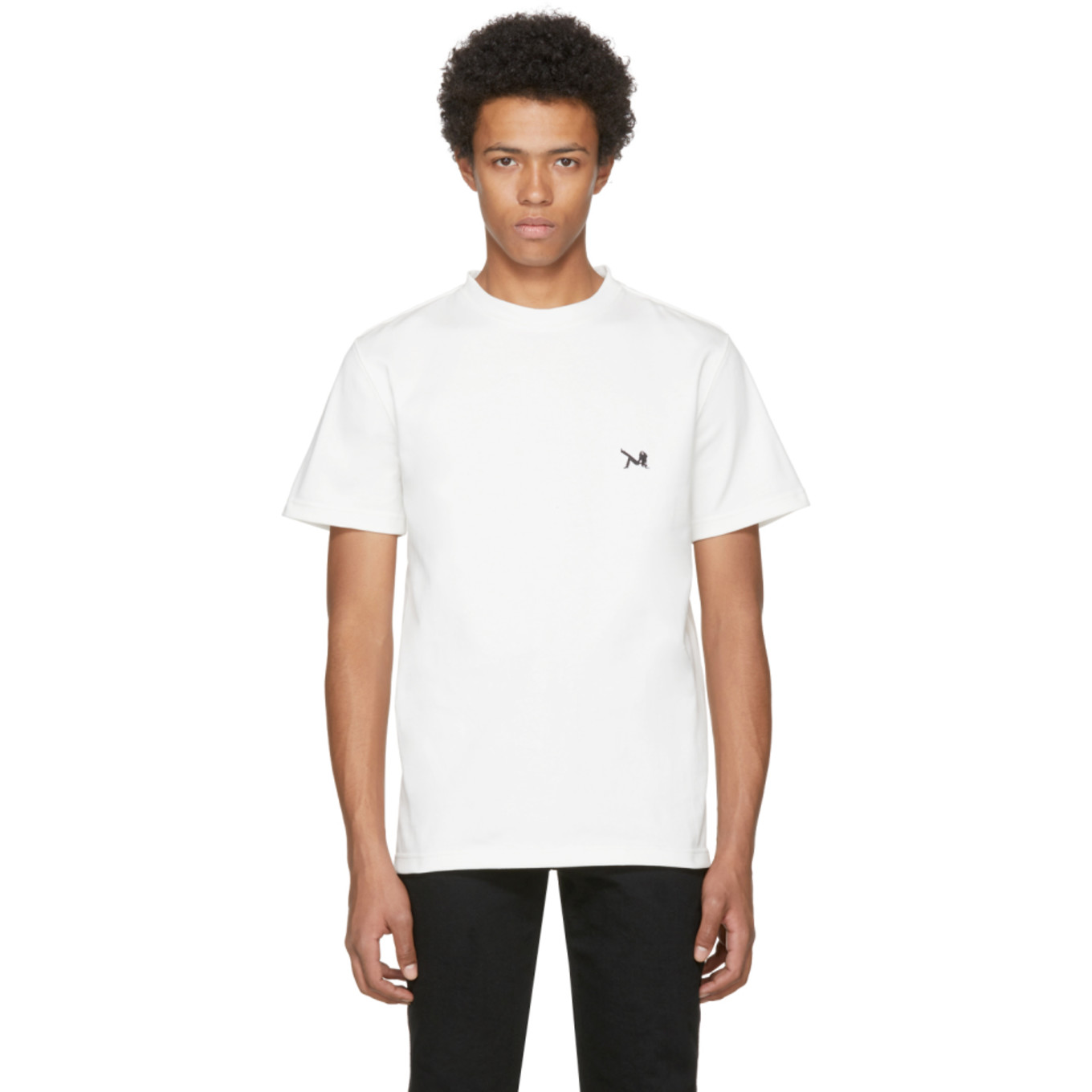 White Logo T Shirt by Calvin Klein 205 W39 Nyc