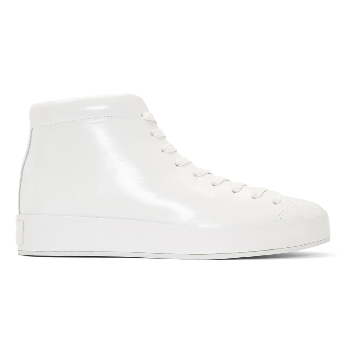 White Patent Rb1 High Top Sneakers by Rag & Bone