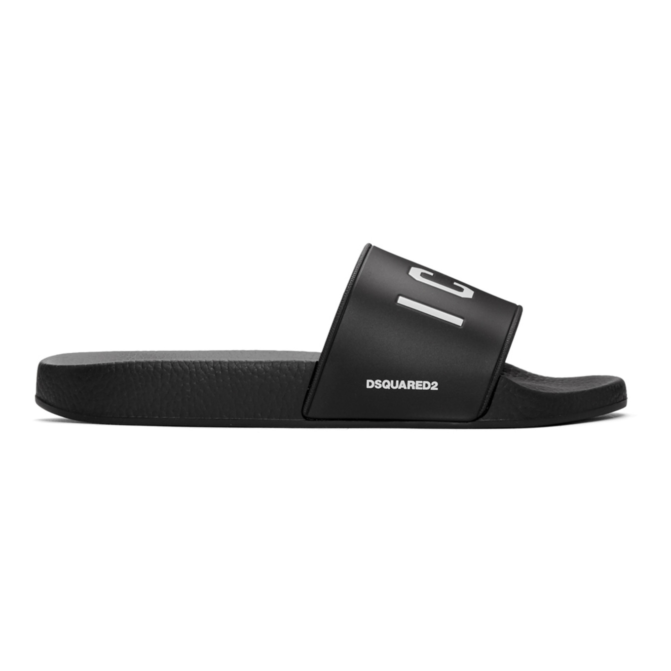 Black 'icon' Slides by Dsquared2