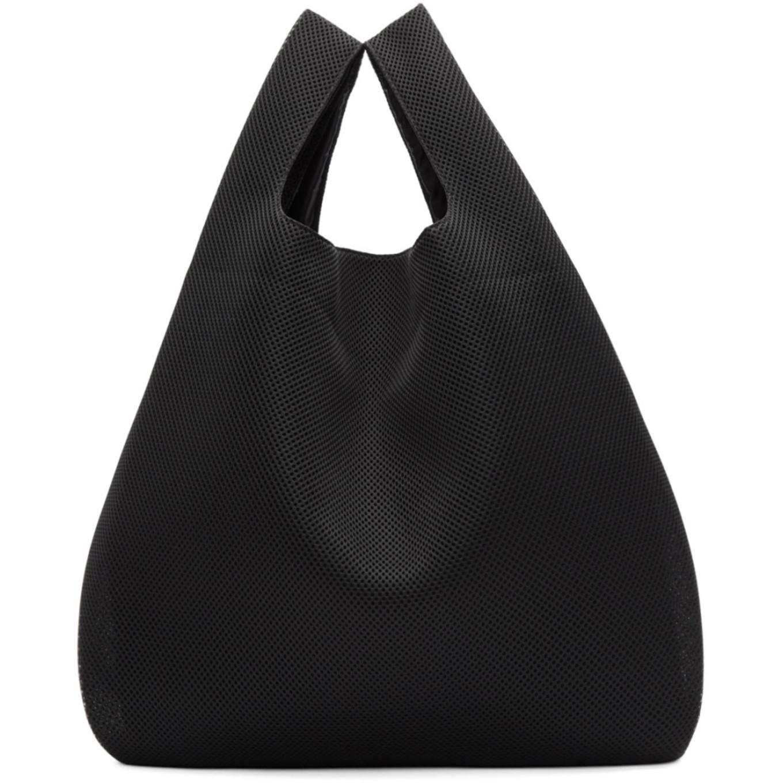 Ssense Exclusive Black Mesh Shopping Tote by Mm6 Maison Martin Margiela