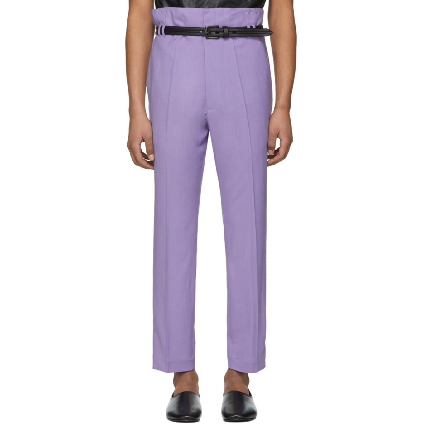 Purple Selenite Double Waisted Trousers by Haider Ackermann