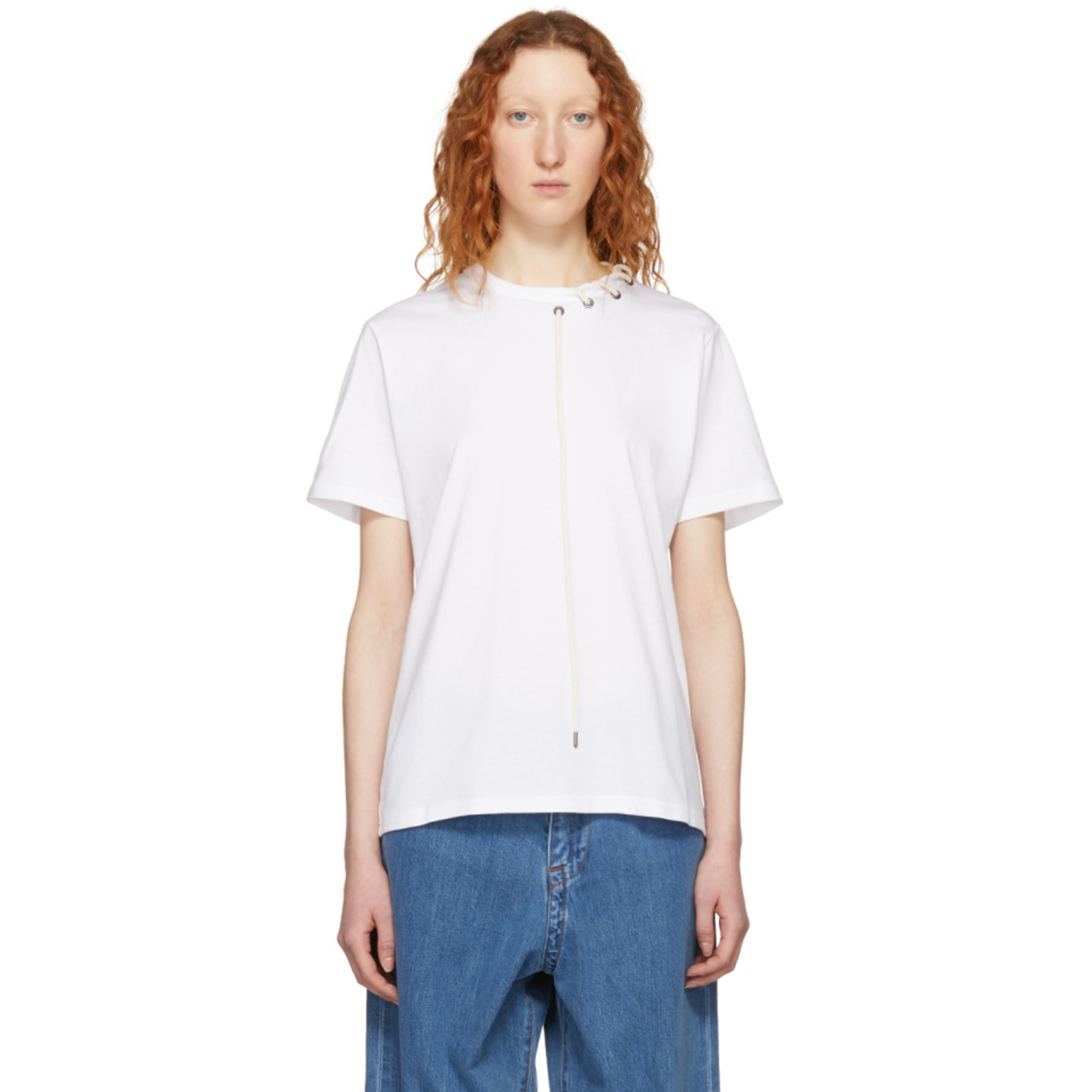 White Laced T Shirt by Craig Green