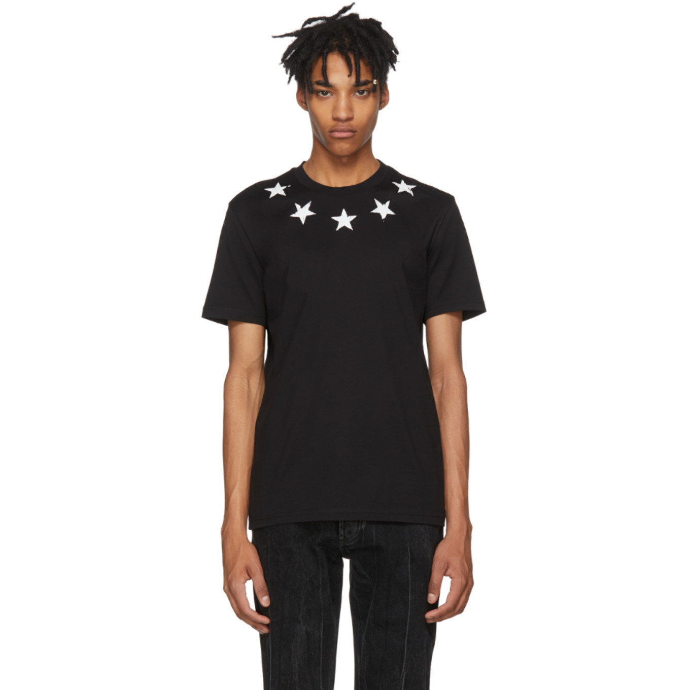 Black Vintage Stars T Shirt by Givenchy