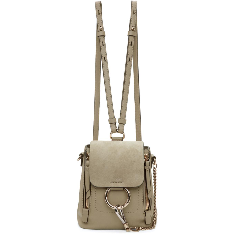 Grey Mini Faye Backpack by ChloÉ