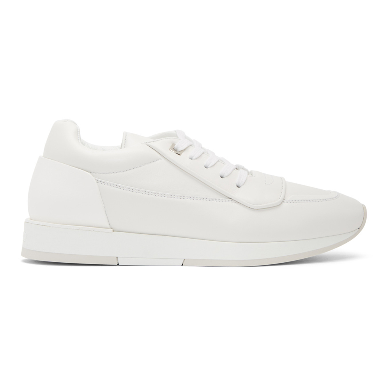 White Leather Jett Sneakers by Jimmy Choo