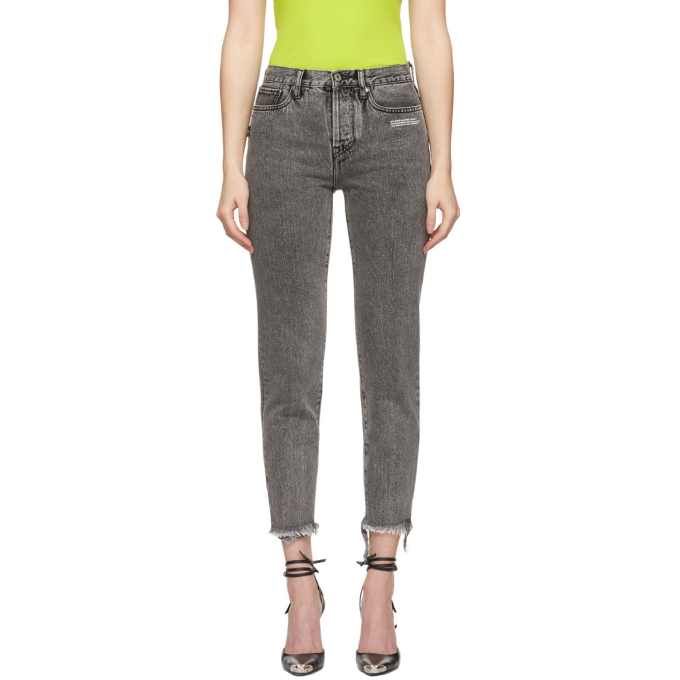 Grey Slim Fit Jeans by Off White