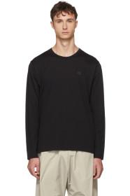 아크네 스튜디오 긴팔 티셔츠 블랙 Acne Studios Black Long Sleeve Nash Face T-Shirt