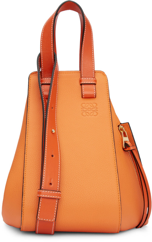 Loewe Orange Small Hammock Bag