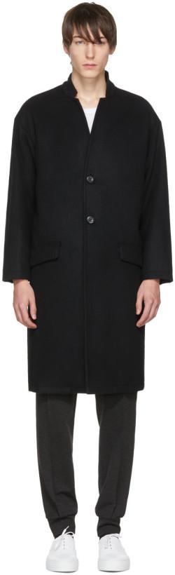 John Elliott Black Cashmere Top Coat