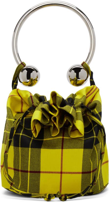 Ashley Williams Yellow Tartan Lewis Piercing Bag