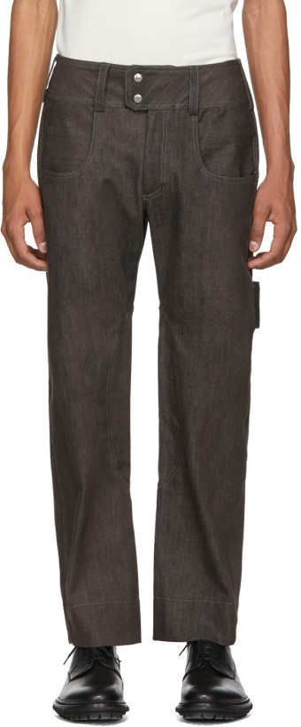 ST-HENRI Grey Work Jeans