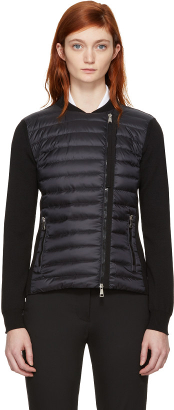 Moncler Black Quilted Panel Jacket