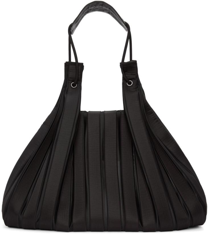 Issey Miyake Black Linear Knit Tote