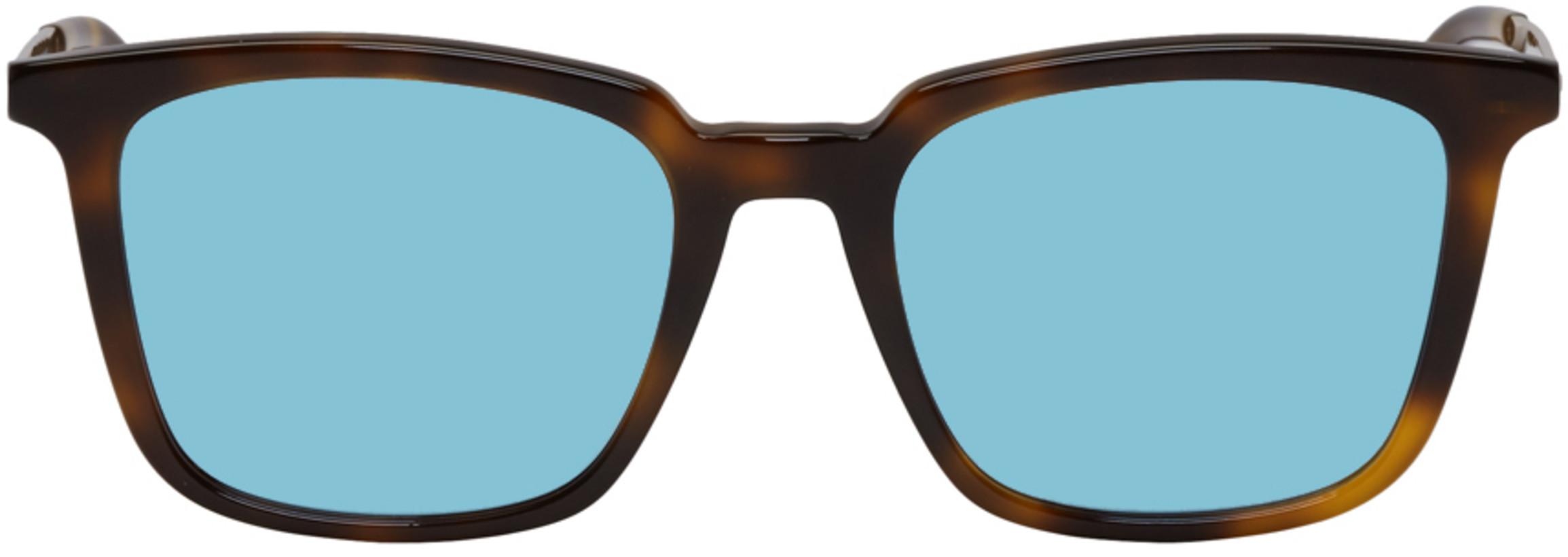 McQ Alexander McQueen Tortoiseshell & Blue MQ0070s Sunglasses