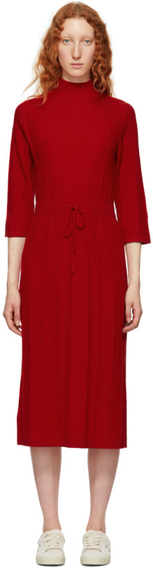 A.P.C. Red Viviane Knit Dress
