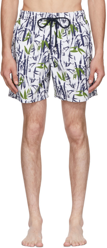 Vilebrequin White Moorea Bamboo Song Swim Shorts