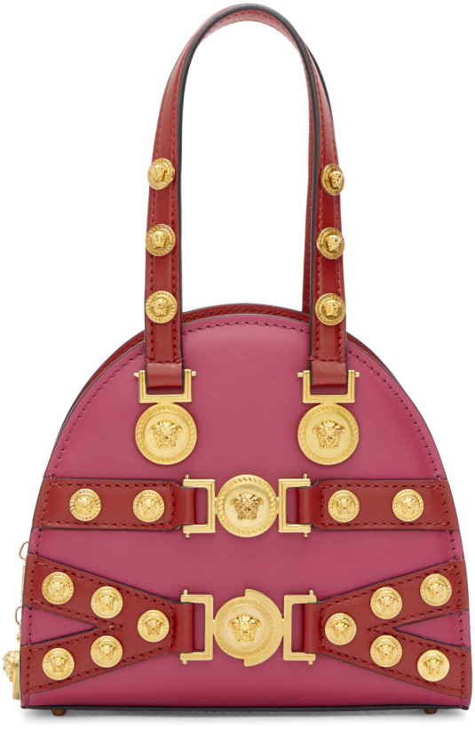Versace Pink & Red Small Tribute Bag