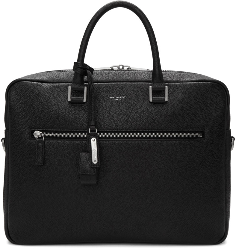 Saint Laurent Black Sac De Jour Briefcase