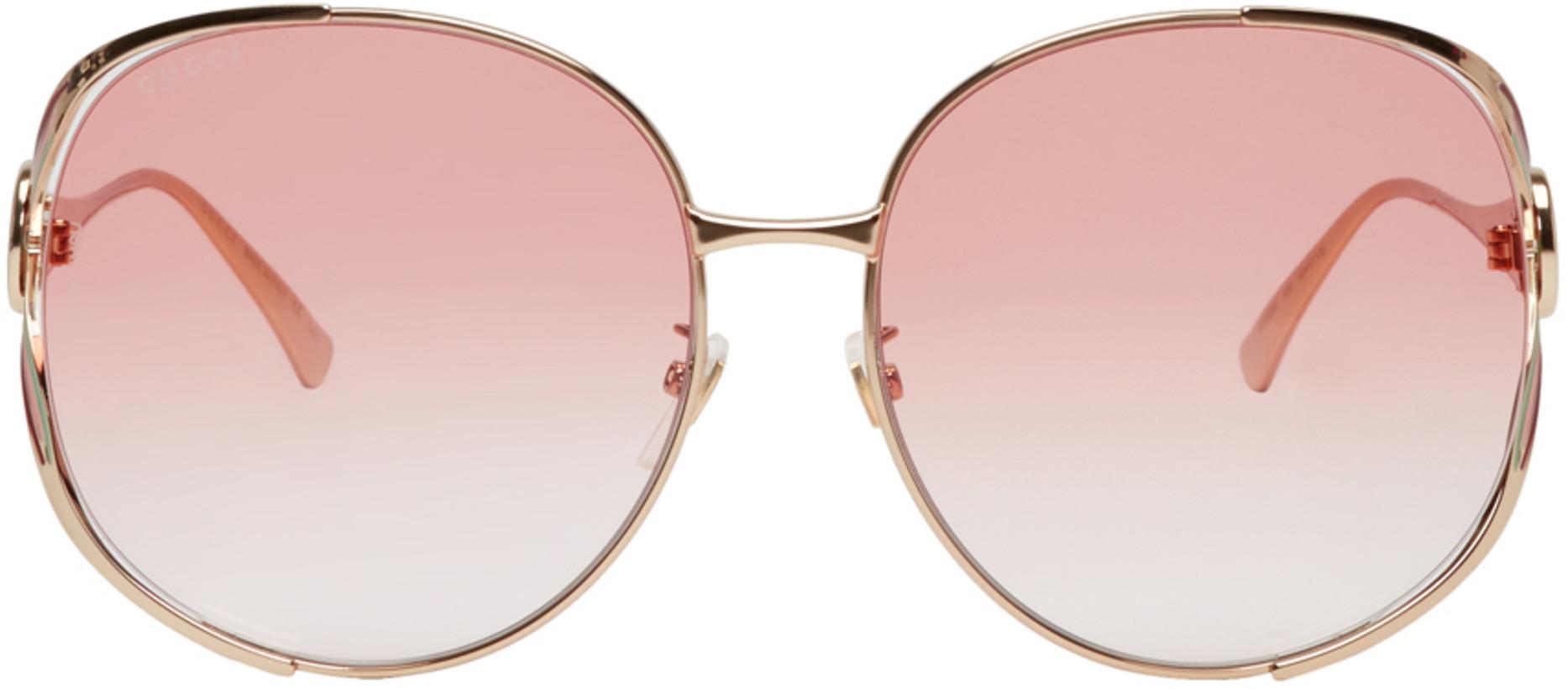 Gucci Pink Urban Fork Sunglasses