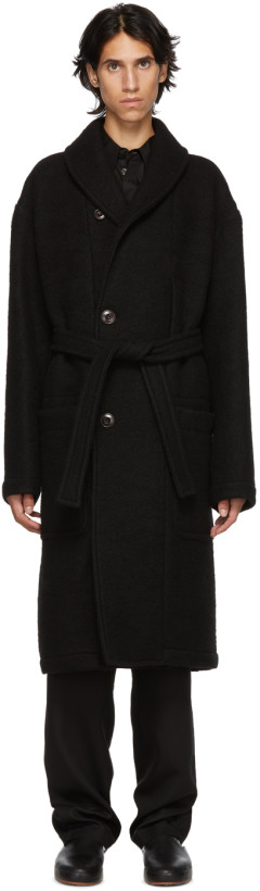 Lemaire Black Kaftan Coat