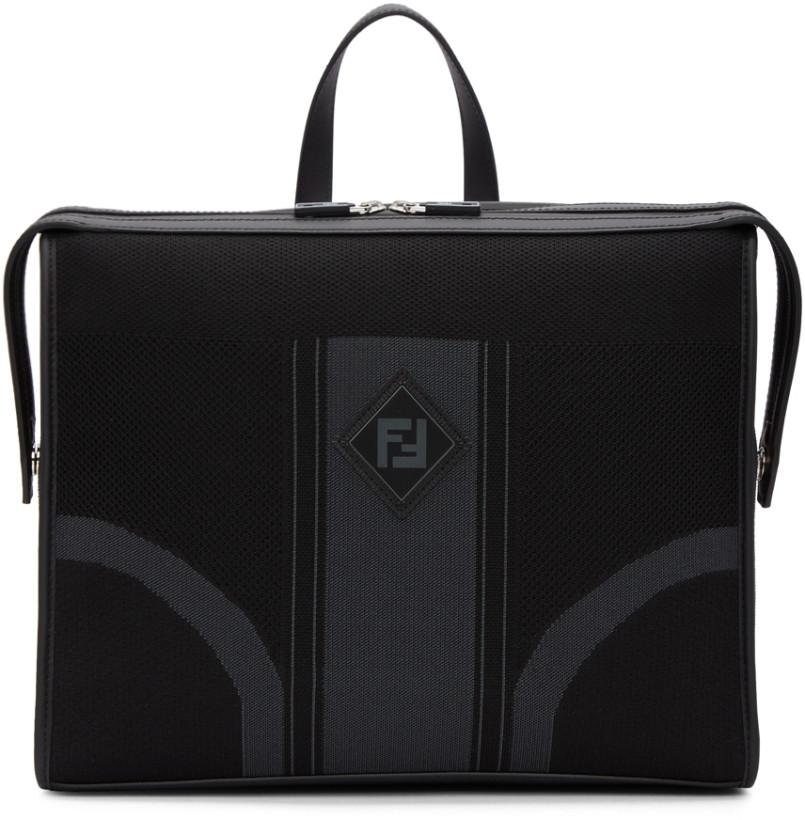 Fendi Black 'Forever Fendi' Briefcase