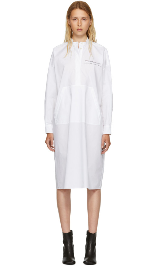 MM6 Maison Margiela - White Parachute Poplin Dress