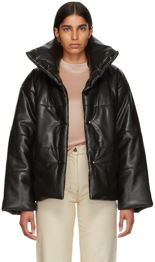 Nanushka - Black Vegan Leather Hide Jacket