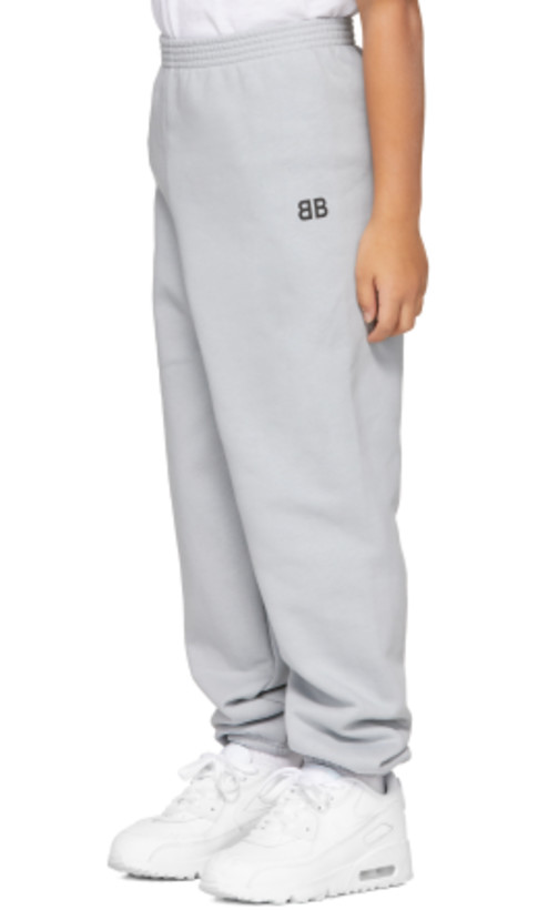 Balenciaga Kids - Grey 'BB' Lounge Pants