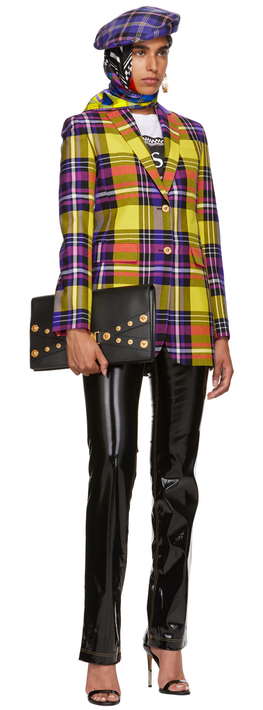 Versace - Yellow Plaid Blazer