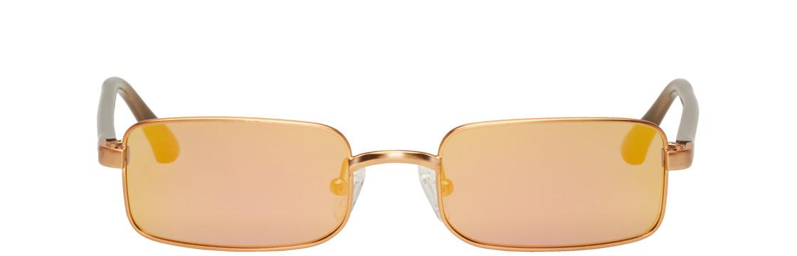 Dries Van Noten - Gold Linda Farrow Edition 139 C4 Sunglasses