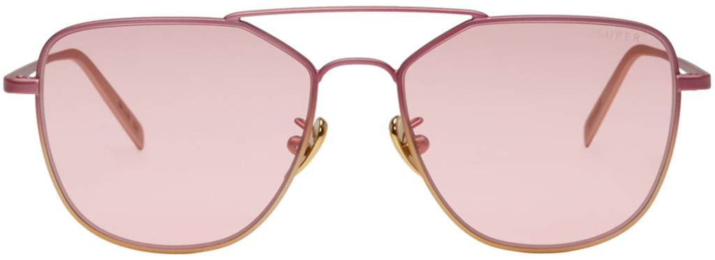SUPER Silver & Pink Ideal Sunglasses LL2CG7N