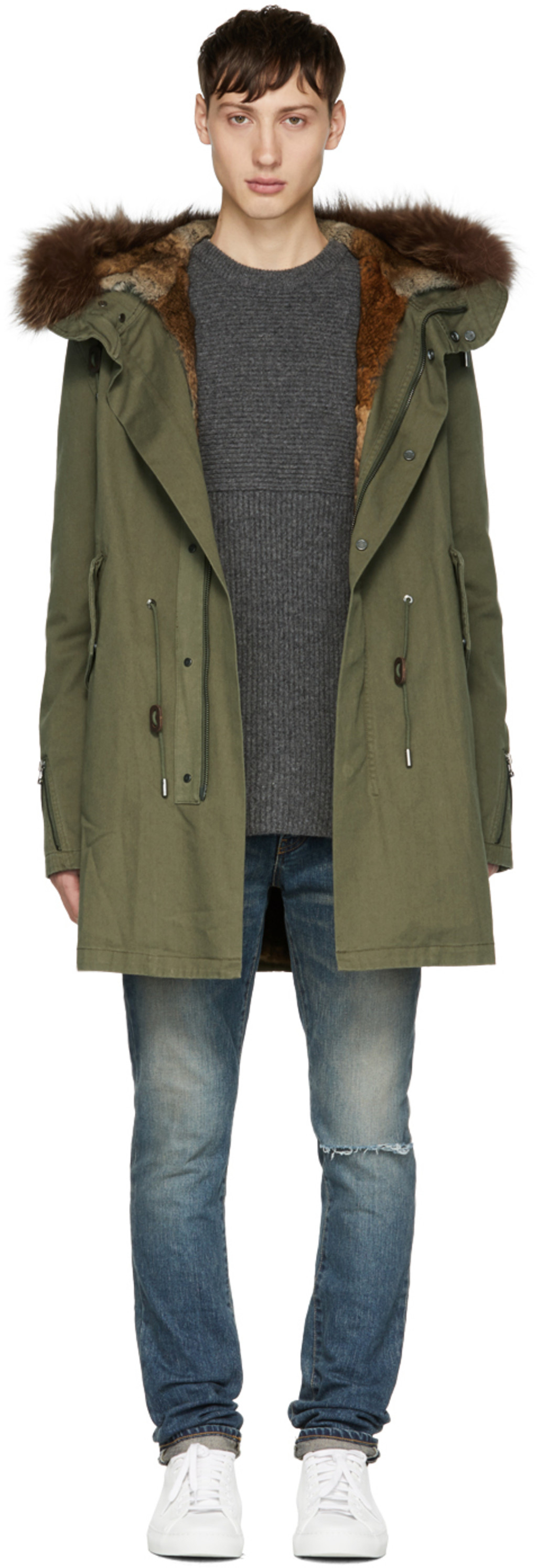 Yves salomon mens parka