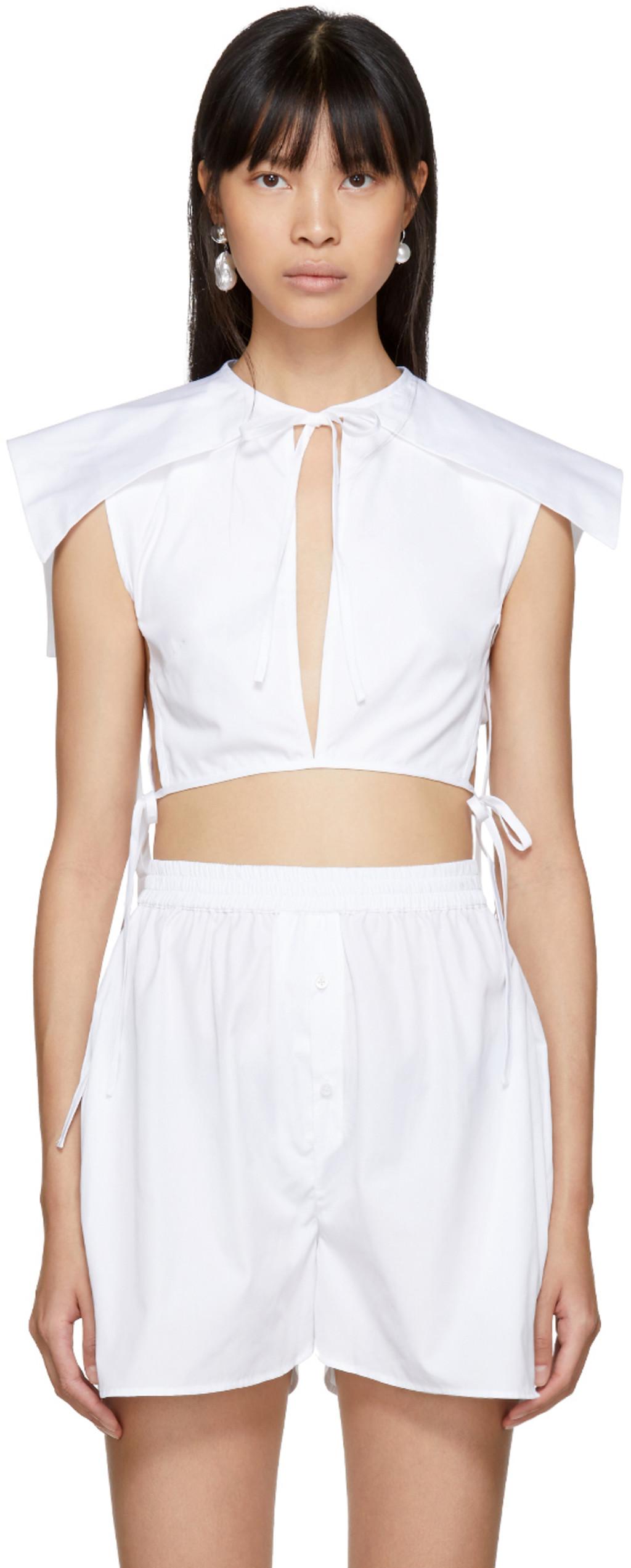 White Cornelia Sailor Bib Blouse Cecilie Bahnsen