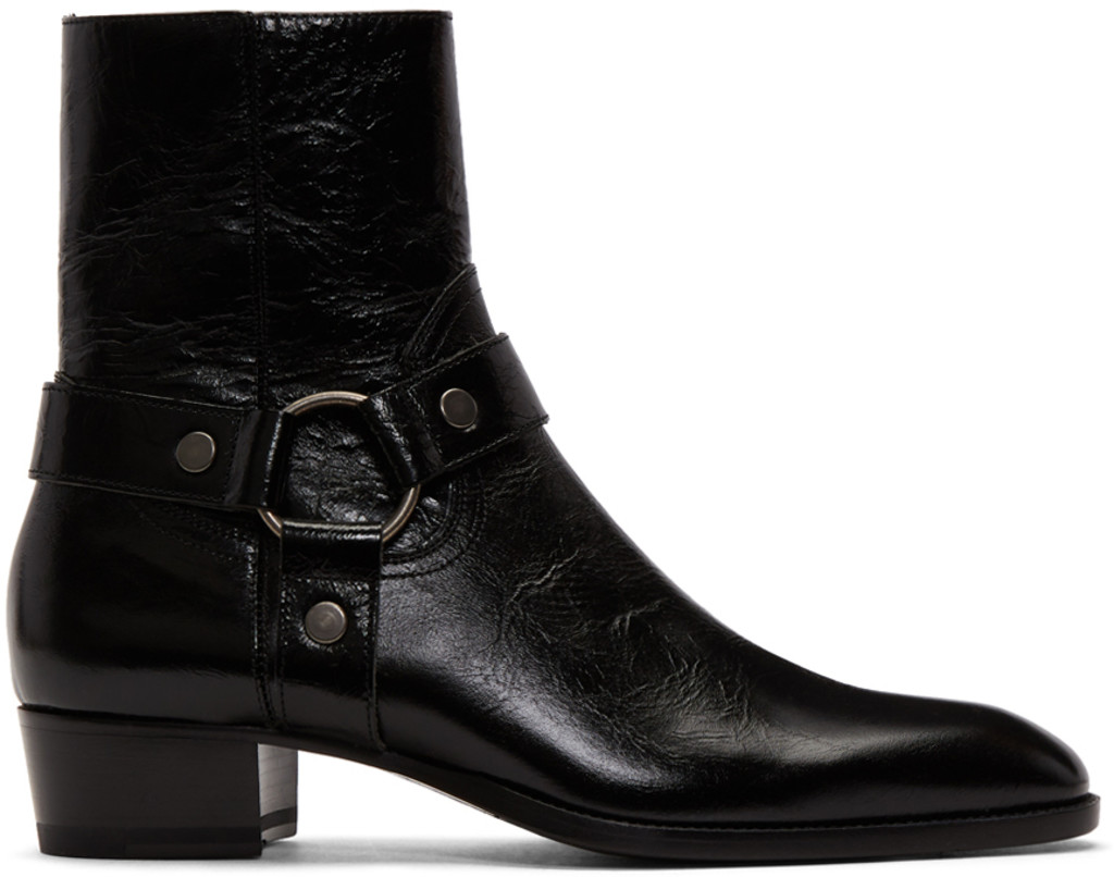 Abasi Rosborough Black Vitello Olio Nero Boots