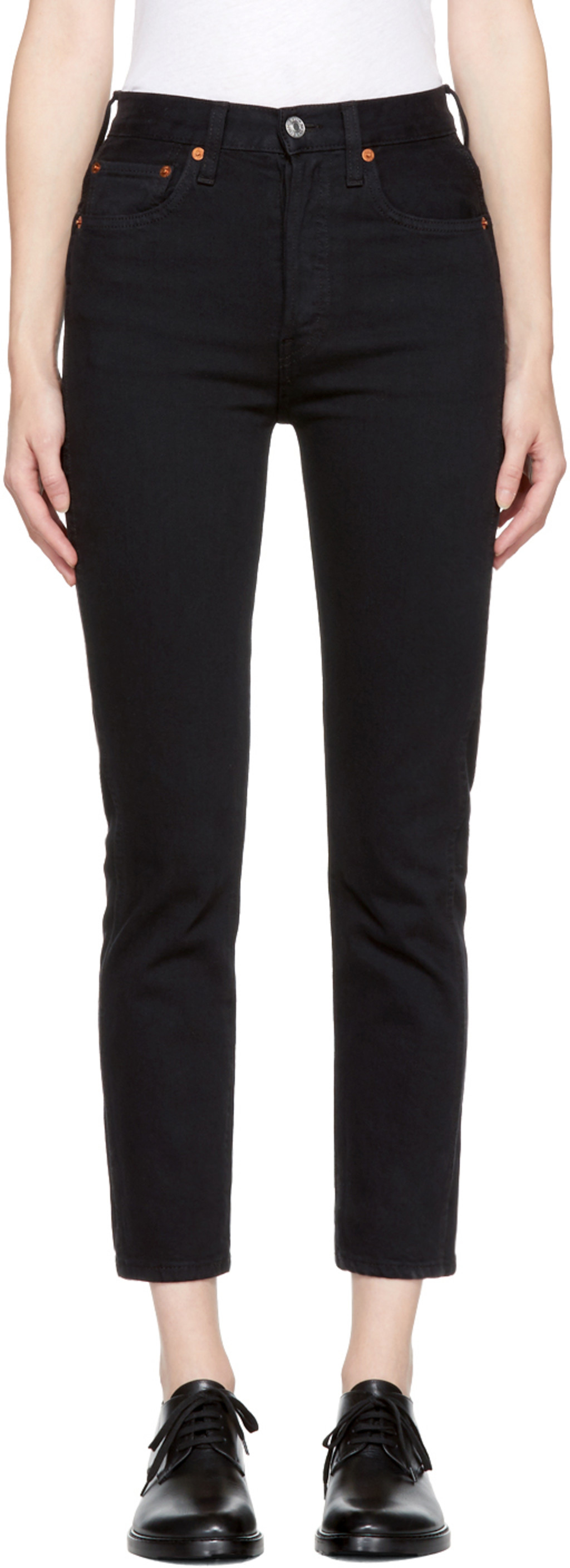cropped jeans - Black Re/Done