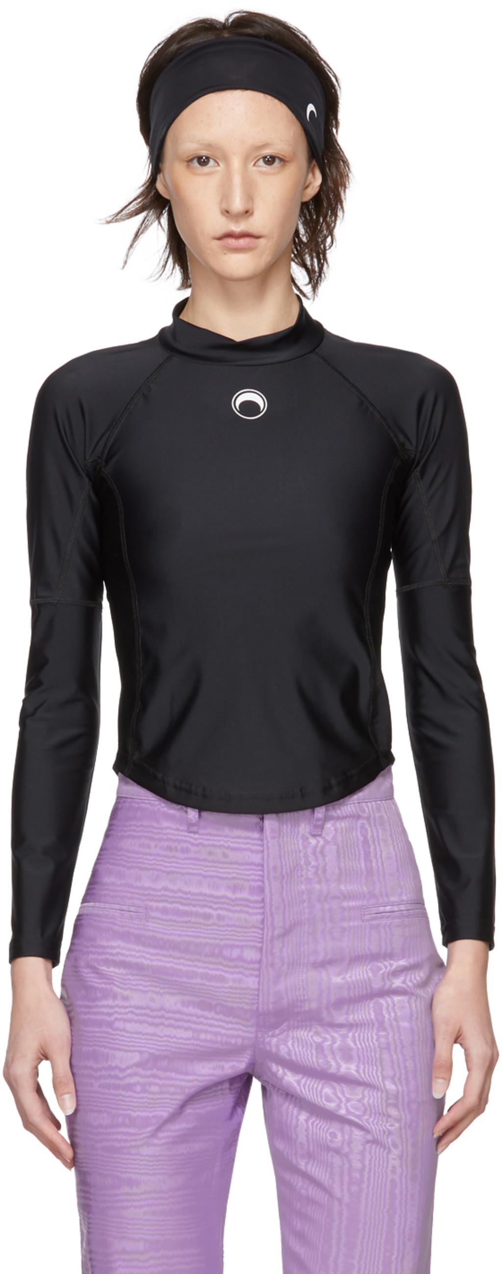 Designer Turtlenecks For Women Ssense Torch Tshirt Blue Black Navy M