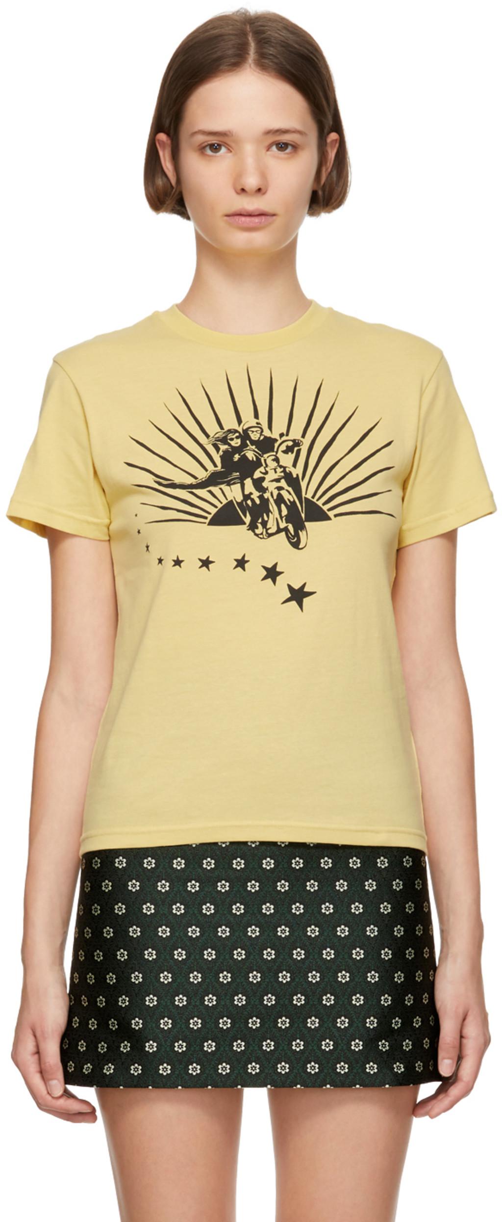 686496c63d96d Yellow Lattice Back Ruffle Sleeve Blouse - Joe Maloy