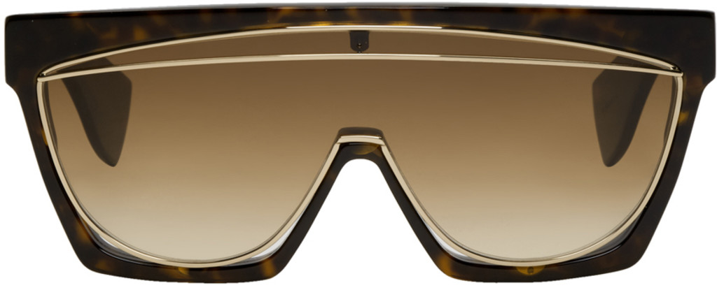 8978bbd11122 Miu Miu Brown Tortoiseshell Acetate Cat Eye Optical Glasses Lyst