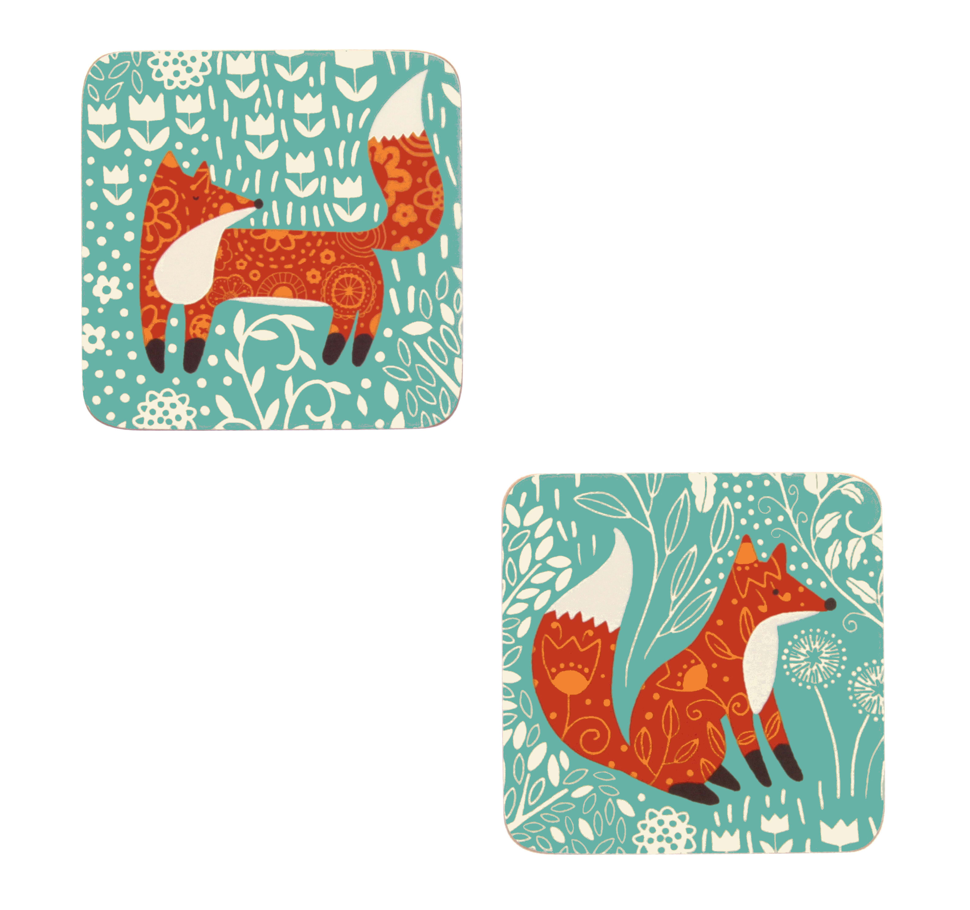 Ulster Weavers Foraging Fox Coasters (Pack of 4)