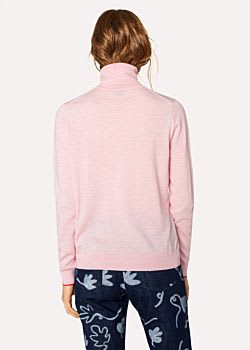 PS Paul Smith Light Pink Roll Neck Sweater
