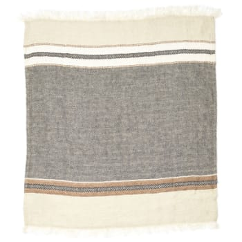 Libeco Plaid Beeswax Stripe The Belgian Linen Towel