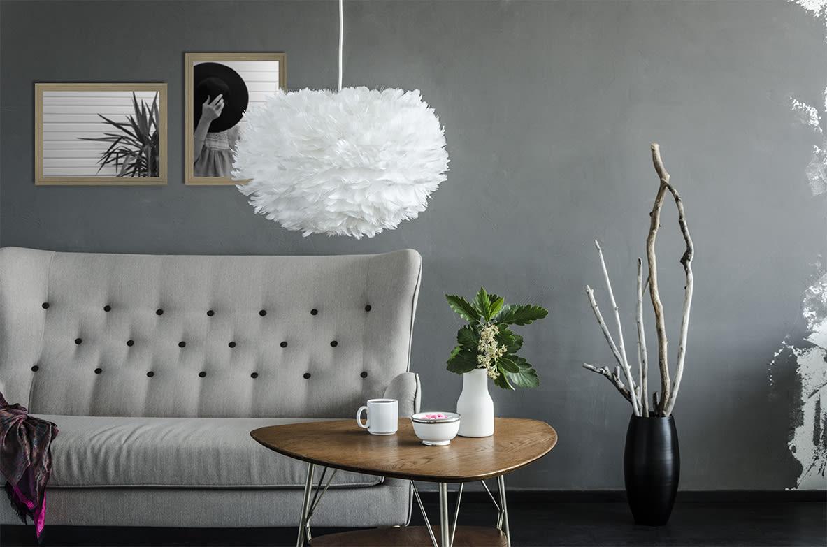UMAGE  Vita Copenhagen Eos White Feather Lampshade