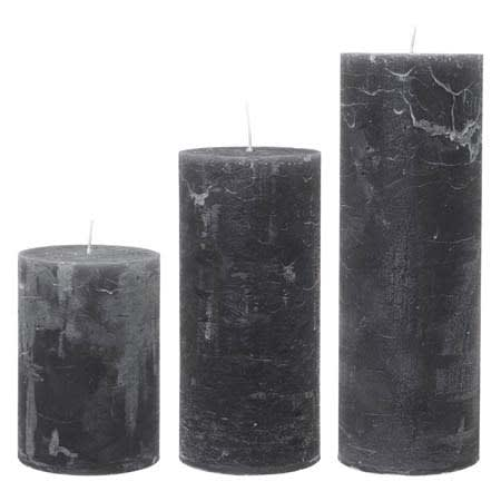 Cozy Living Stone 190 Hour Burn Time! Huge Rustic Pillar Candle
