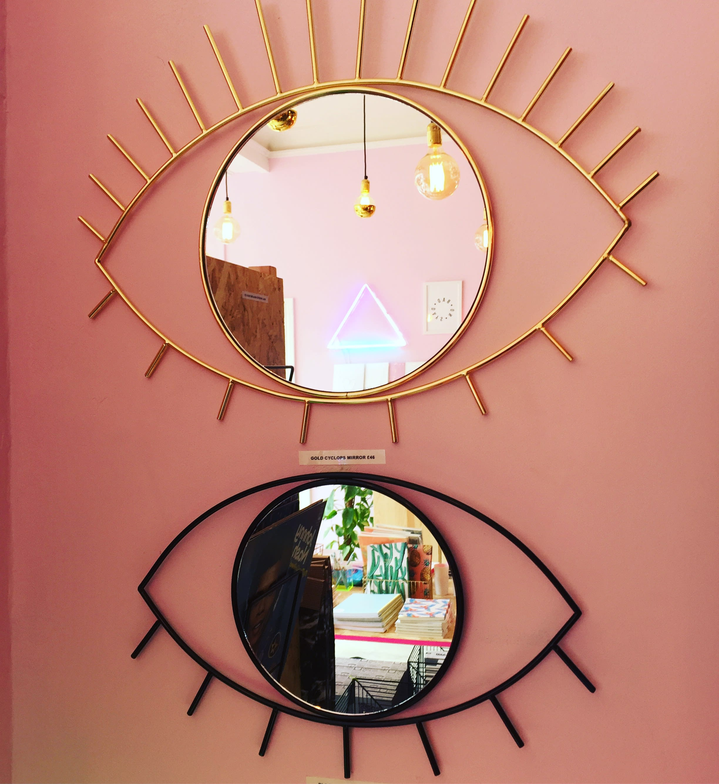 DOIY Design Black Cyclops Wall Mirror Medium