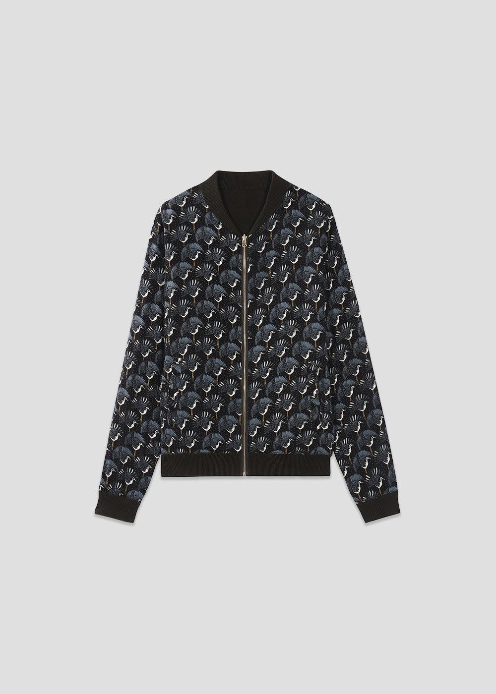 MARIE SIXTINE Zoe Heron Print Reversible Jacket